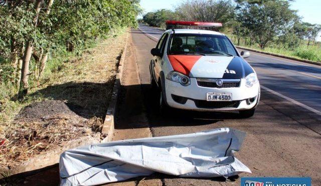 Corpo foi localizado no KM 193 da rodovia Integração. Foto: MANOEL MESSIAS/Agência