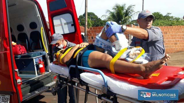 Mulher sofreu dupla fratura na tíbia e fíbula da perna esquerda, além de escoriações generalizadas pelo corpo. Foto: MANOEL MESSIAS/Agência