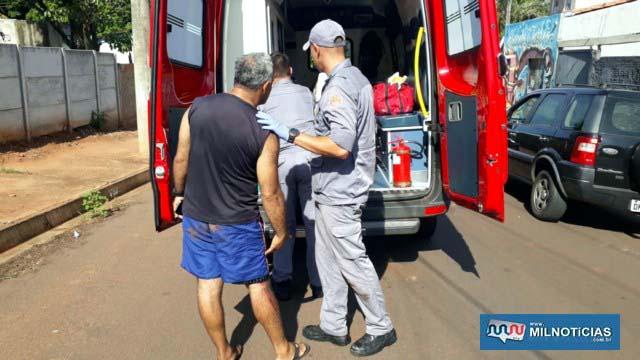Sogro da vítima e piloto da Mobilete, sofreu laceração na perna esquerda, altura do joelho e outras escoriações leves. Foto: MANOEL MESSIAS/Agência