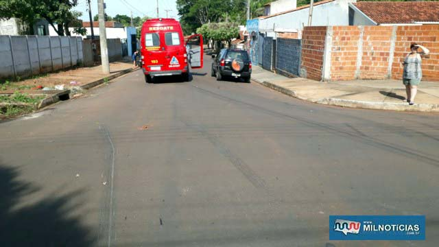 Motorista da For Eco Sport freou forte, mas disse que foi impossível evitar o acidente. Foto: MANOEL MESSIAS/Agência