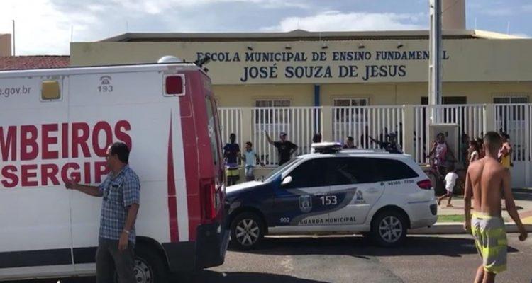 Professora morreu dentro da ambulância, a caminho do hospital — Foto: Cleverton Macedo/TV Sergipe.