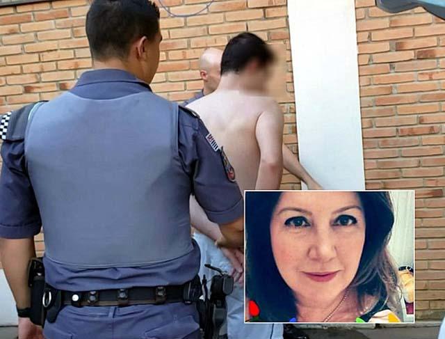 Filho é preso após matar mãe a facadas em São João da Boa Vista — Foto: Carioca/Notícias Policiais