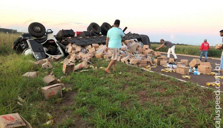 Condutor morreu no acidente. Foto: Maracaju Speed