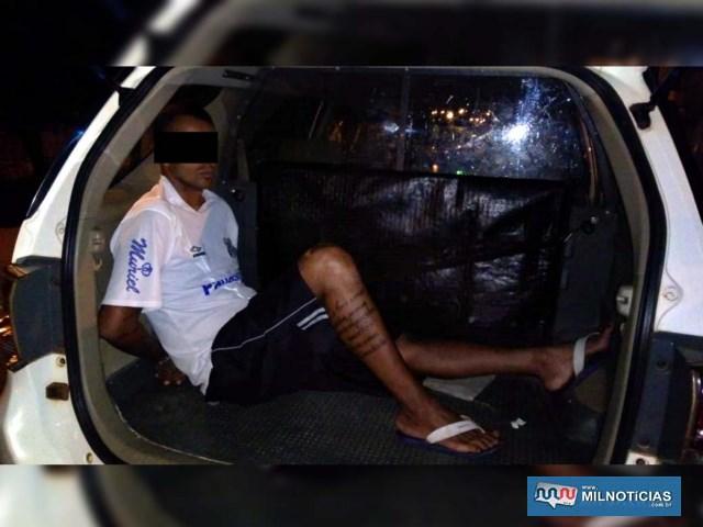 Flávio Souza da Silva, 36 anos, também foi capturado, mas tinha 12 horas de carência para se apresentar e por isso foi liberado no plantão policial, foi liberado. Foto: DIVULGAÇÃO