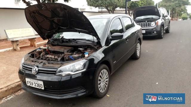VW Voyage tinha registro de furto em 05 de maio deste ano por meio da Delegacia Eletrônica. Foto: MANOEL MESSIAS/Agência