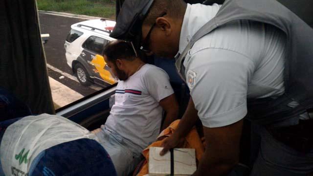 Operador de máquinas foi preso acusado de tráfico de drogas. Foto: DIVULGAÇÃO/PMRv