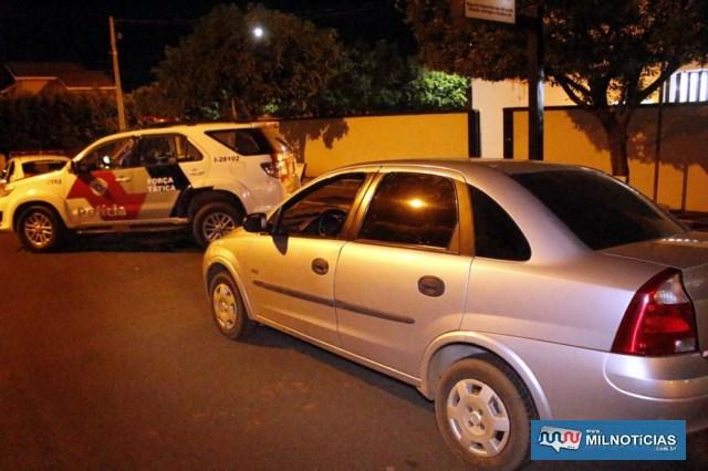 Veículo GM Corsa foi apreendido pela Polícia Civil. Foto: MANOEL MESSIAS/Agência