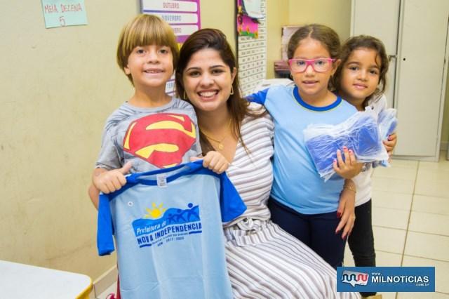 Thauana comentou que a Educação é a chave para solucionar problemas sociais e dar uma esperança melhor aos pequeninos.. Foto: Ascom