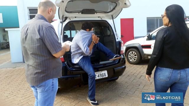 Homem foi capturado e encaminhado para exame de corpo delito e depois recolhido à cadeia de Ilha Solteira. Foto: MANOEL MESSIAS/Agência