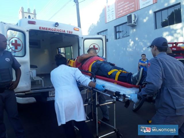 Comerciário sofreu escoriações leves pelo corpo e uma contusão, foi encaminhado até a UPA, onde foi medicado e liberado. Foto: MANOEL MESSIAS/Agência