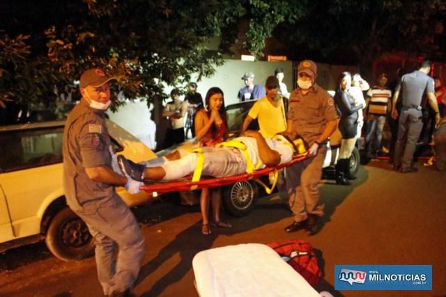 O autônomo Dauan Lopes Costa, 20 anos, sofreu fratura na canela da perna direita, além de contusões e escoriações pelo corpo. Foto: MANOEL MESSIAS/Agência