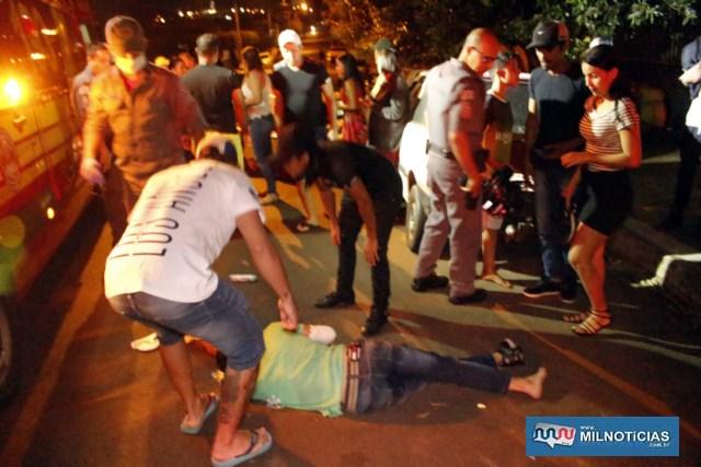 O garupa Wellington Ferreira da Silva, 21 anos, sofreu diversas escoriações pelo corpo, mas sem muita gravidade. Foto: MANOEL MESSIAS/Agência