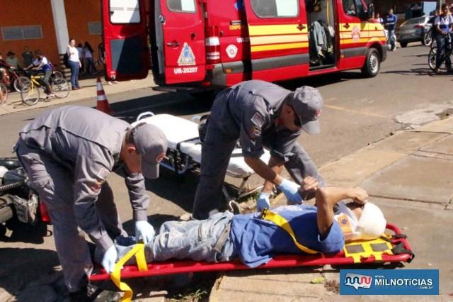 Serviços gerais sofreu um corte na cabeça, altura da testa e escoriações pelo corpo. Foto: MANOEL MESSIAS/Agência