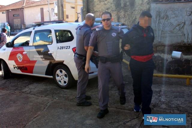 Inspetor de qualidade G. B. S., 21 anos, era quem portava a arma de fogo durante o assalto à residência. Foto: MANOEL MESSIAS/Agência