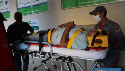 Entregador de remédios sofreu escoriações pelo corpo, felizmente leves. MIL NOTICIAS/Agência