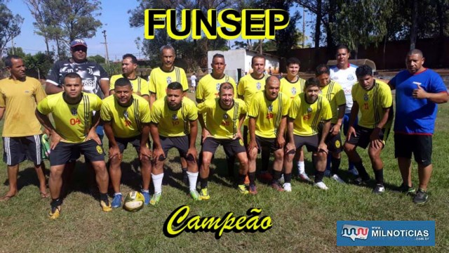 Funsep foi a campeã do torneio empresarial. Foto: MANOEL MESSIAS/Agência