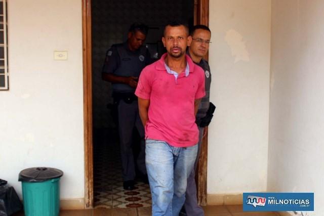 Morador de Nova Independência quando foi preso no último mês de março, acusado de praticar furtos em pelo menos três residências. Foto: MANOEL MESSIAS/Agência