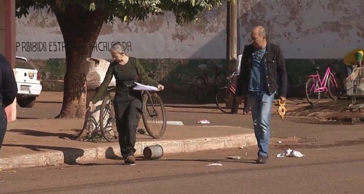Perícia da Polícia Civil da Seccional de Andradina foi até o local e a morte será investigada — Foto: Reprodução/TV TEM