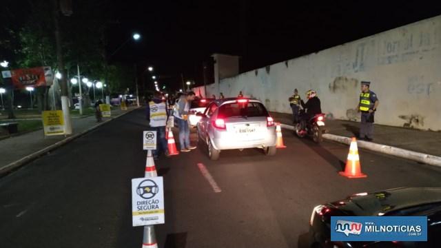 Trecho da rua Bandeirantes, ao lado da Praça do TG e do estádio municipal foi o outro local escolhido para a operação conjunta. Fotos: DIVULGAÇÃO/PM