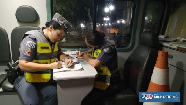 Foram elaborados várias multas pelas infrações cometidas. Foto: DIVULGAÇÃO/PM