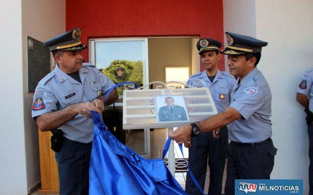 Ato solene de inauguração da foto dos comandantes do 28º BPM/I. Foto: MANOEL MESSIAS/Mil Noticias