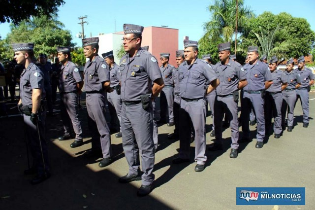 Tropa foi formada basicamente pelo pessoal do setor administrativo do 28º BPM/I. Foto: MANOEL MESSIAS/Agência