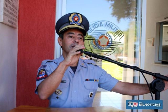 Coronel PM Motooka, comandante do CPI 10 Araçatuba. Foto: MANOEL MESSIAS/Mil Noticias