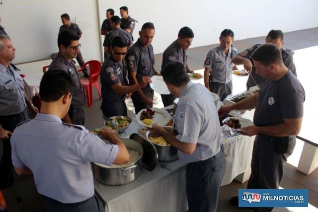 Após o ato oficial, foi servido um almoço aos presentes na solenidade. Foto: MANOEL MESSIAS/Mil Noticias
