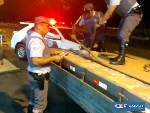 Foram apreendidos 486 tabletes de maconha, pesando 487 quilos. Foto: DIVULGAÇÃO/PMRv