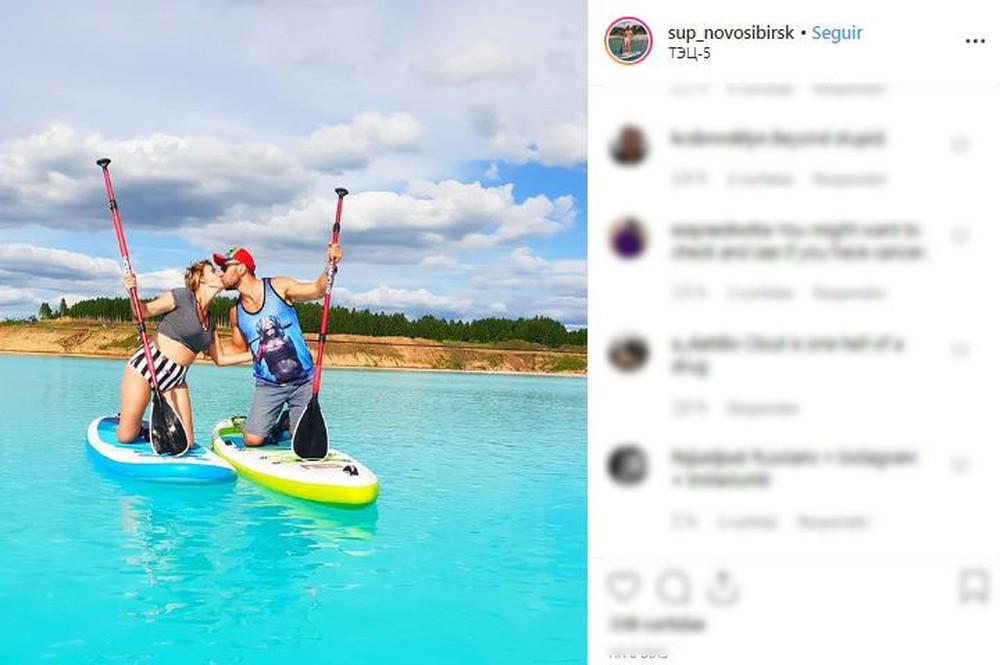 Maldivas Siberianas: Lago na Rússia está atraindo turistas e moradores locais em busca de fotos, mas água é tóxica. — Foto: Reprodução/Instagram.