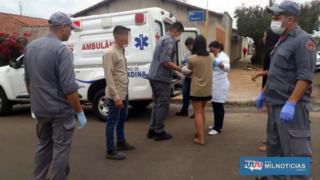 Uma das adolescentes foi encaminhada ate a UPA pela ambulância do setor de saúde do município. Foto: MANOEL MESSIAS/Agência