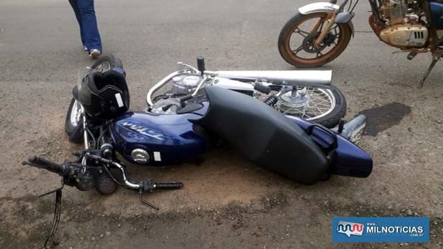 Motocicleta do segurança sofreu pequenas avarias e liberada para parentes dele ao final da ocorrência. Foto: MANOEL MESSIAS/Agência