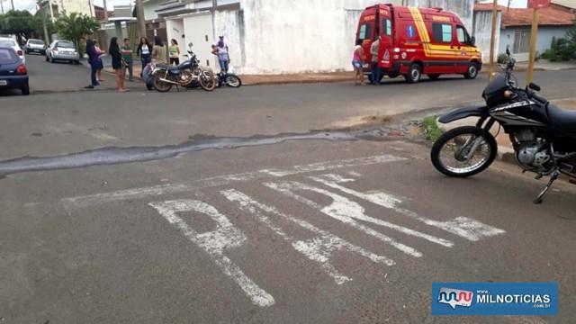 Acidente aconteceu depois que adolescentes passaram direto pela sinalização e interceptaram trajetória da moto ocupada por segurança. Foto: MANOEL MESSIAS/Agência