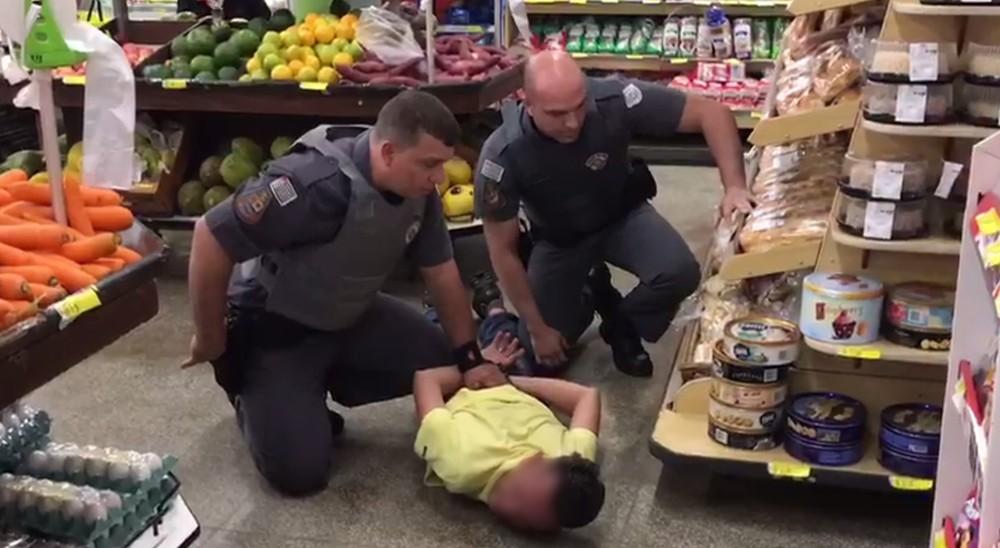 Suspeito foi preso pela Polícia Militar em Pereira Barreto — Foto: Arquivo Pessoal