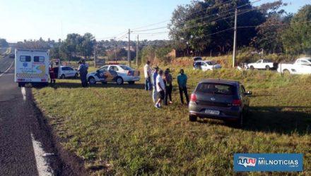 Acidente aconteceu próximo do acesso da rodovia para o jardim Brasil. Foto: MANOEL MESSIAS/Agência
