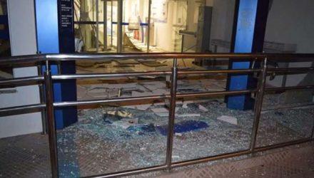 Grupo explodiu agência bancária durante a madrugada, em Piraí do Sul — Foto: Divulgação/PMPR.