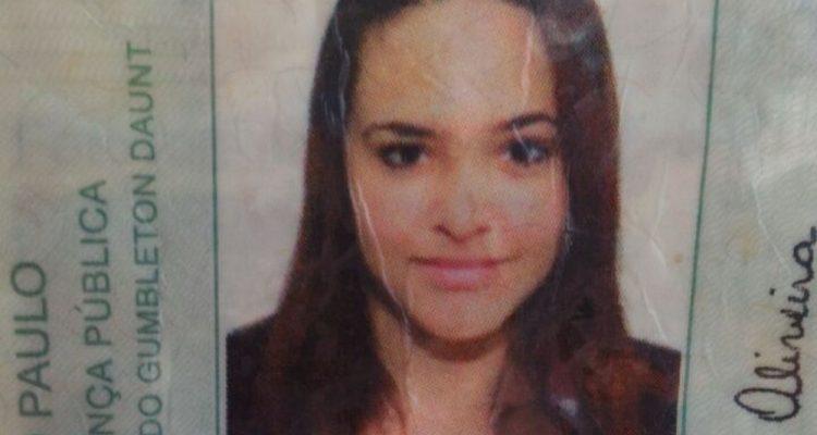 Brenda Lima de Oliveira, de 20 anos, foi morta por policial que atirou da sacada de casa em Poá — Foto: Reprodução.