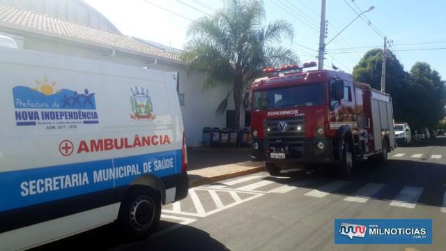 Vítima foi socorrida pelo setor de ambulâncias de Nova Independência até a UPA em Andradina. Foto: MANOEL MESSIAS/Agência