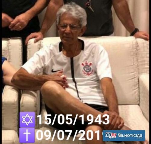 Corintiano fanático, foi sepultado com o manto sagrado de seu time do coração, o S. C. Corinthians Paulista. Foto: DIVULGAÇÃO