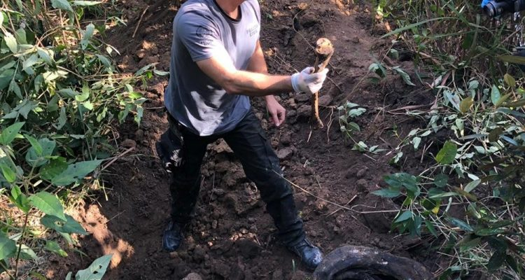 Polícia acha mais corpos em cemitério candestino em Itaboraí — Foto: Divulgação.