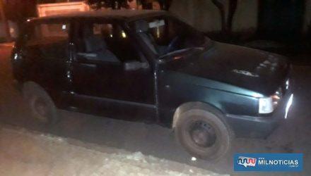 Tentativa de homicídio aconteceu quando dona de casa jogou o Fiat Uno na cor verde contra a rival, provocando ferimentos pelo corpo dela. Foto: MIL NOTICIAS/Agência