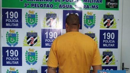 Cristiano Pavarino foi preso na cidade de Àgua Clara/MS, para onde havia fugido após ter sua prisão decretada pela justiça paulista. Foto: Polícia Militar de MS/Divulgação