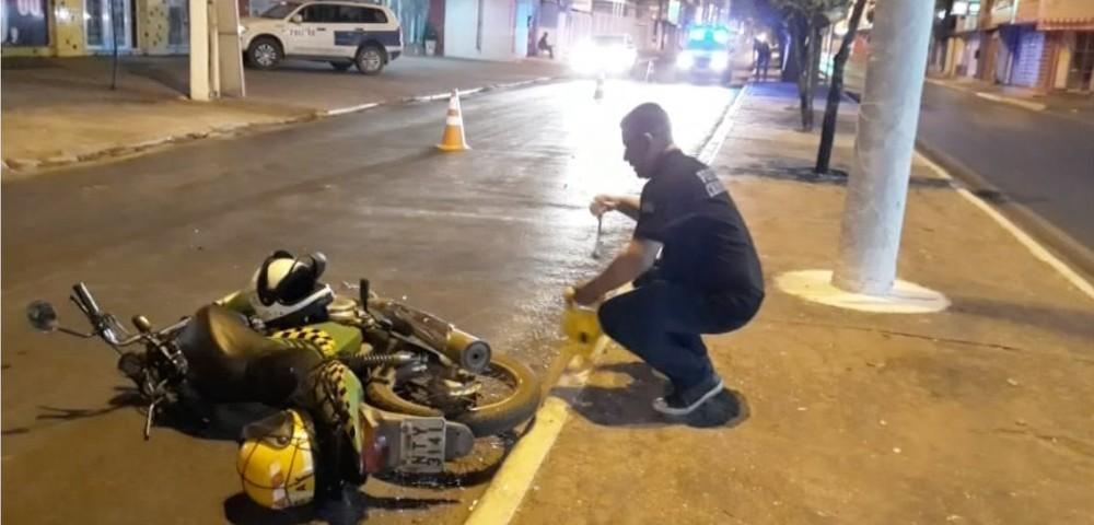Acidente foi registrado na Avenida Filinto Müller, em Várzea Grande — Foto: Reprodução.