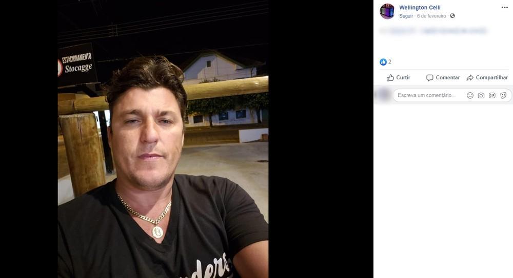 Corpo de Wellington Celli foi encontrado dentro de casa em Catanduva — Foto: Reprodução/Facebook.
