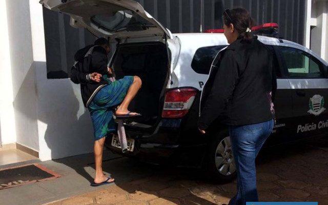 Homem foi encaminhado ao CDP – Centro de Detenção Provisória de Nova Independência. Foto: DIVULGAÇÃO