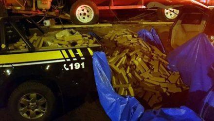 3,2 toneladas de maconha apreendidas em MS — Foto: PRF/Divulgação.