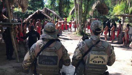 Polícia Federal enviou equipes para investigar morte de líder indígena e possível invasão de reserva no Amapá — Foto: PF/Divulgação.