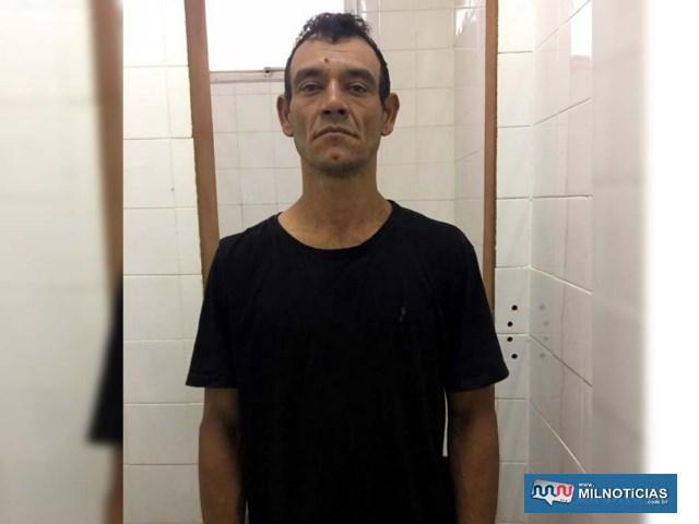 Cleone foi capturado no Parque São Gabriel, por força de um Mandado de prisão expedido pela 2° Vara de Execução Penal de Campo Grande/MS. Foto: DIVULGAÇÃO