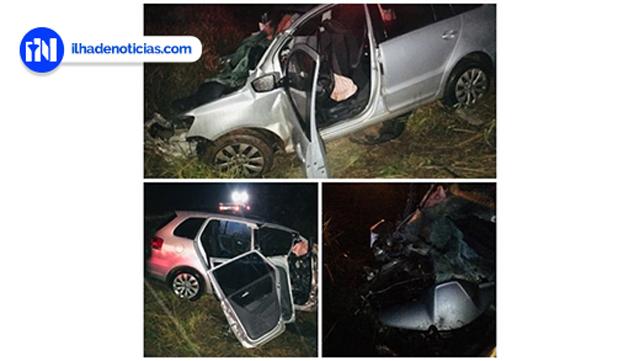 Três pessoas ficaram feridas em acidente na rodovia Barrageiros. Fotos: Informa Mais