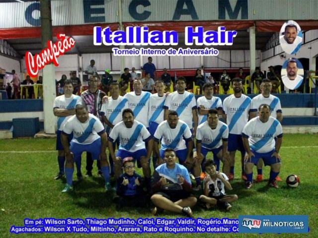 Time da Itallian Hair, campeão do Torneio de Aniversário do Cecam. Foto: Edvaldo Silva